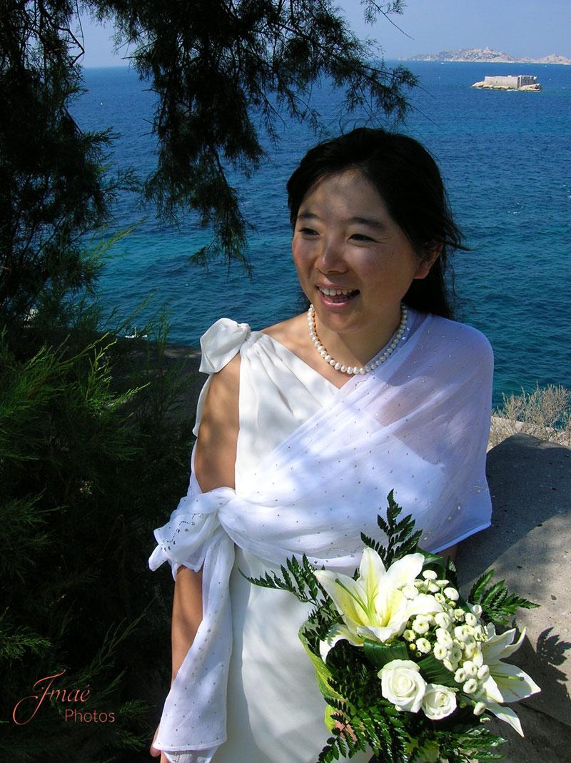 Portrait de mariée - reportage de mariage Imaé Photos à Toulon
